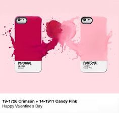 Pantone Iphone cover... Happy V day!