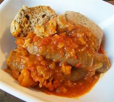 Xantippe bull sausages with this recipe tonight! Quirky Cooking: Sausage Casserole with Dumplings Sausage Casserole, Casserole Dishes, Cooking Curry, Chicken And Brown Rice, Quirky Cooking, Creamy Chicken, Chicken Soup, Savory Snacks, Savoury Recipes