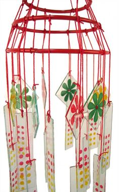 S Chinese Glass Wind Chimes