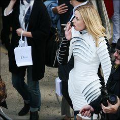 Roisin Murphy wearing Gareth Pugh at the Dior Show