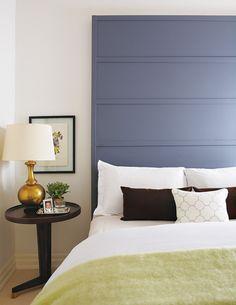 Photo Bed Wood DIY Elte Wall Headboard Bedroom