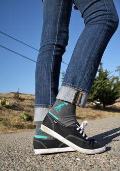 dinosaur socks + keds