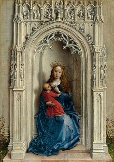 'La Virgen con el Niño entronizada' de Rogier van der Weyden