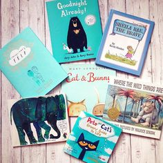 What will you be reading this weekend? We're loving this collection of #blue picture books!  #instabook #bookstagram #picturebook #kidlit