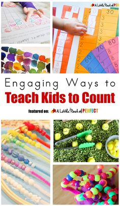Engaging Ways to Teach Kids to Count (math, preschool, kindergarten, counting to…
