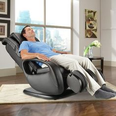 Human Touch WholeBody 71 Faux Leather Heated Massage Chair Upholstery Black
