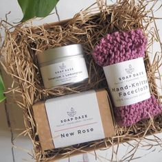 Lovely soap & candle gift set handmade in small batches in Devon using high-quality natural ingredients and packaged in zero waste gift box. Cardboard Gift Boxes, Soap Packaging, Handmade Soaps, Zero Waste, Castile Soap, Glycerin Soap, Gifts Uk, Soap Display, Bath Melts