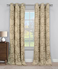 Loving this Taupe Fairbanks Circle Blackout Curtain Panel - Set of Two on #zulily! #zulilyfinds