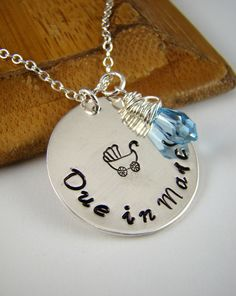 Due Date Necklace Expecting Mom Gift Pregnant Jewelry To Be