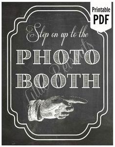 DIY. DRUCKFÄHIGE Tafel PDF. Foto Booth Zeichen. von LittleRetreats, $7.00