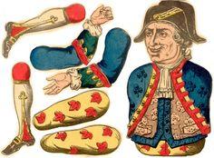Scrapbook Templates, Vintage Paper Dolls, Paper Models, Antique Toys, Vintage Images, Puppets, Paper Crafts, Diy Crafts, Antiques