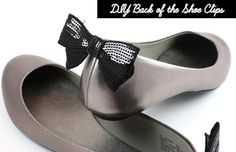 7. Party at the Back    Here we have another clip-on shoe makeover idea. I always find those ballet flats with bow-embellished backs very cute so I had to show you…