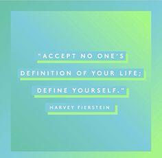 Define yourself!