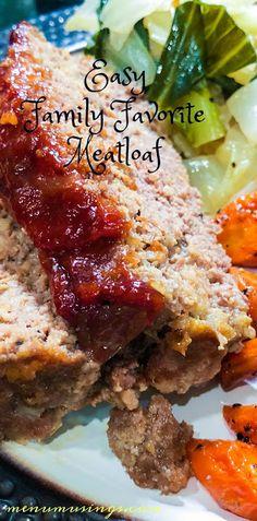Easy Family Favorite Meatloaf - #glutenfree #meatloaf #comfortfood #familyfavorites #groundbeef #stepbystep #menumusings #easy