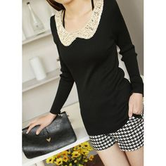 Peter Pan Collar Sequins Knitted Sweater, #Wendybox