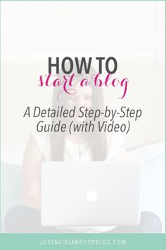 Learn how to start a blog with this detailed step by step guide! Click through to the post to see the video and get started!