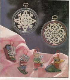 Winter Showcase Ornaments Plastic Canvas by needlecraftsupershop, $1.99