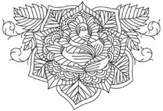 Everything will be coming up roses with this pretty, intricate design! Downloads as a PDF. Use pattern transfer paper to trace design for hand-stitching.