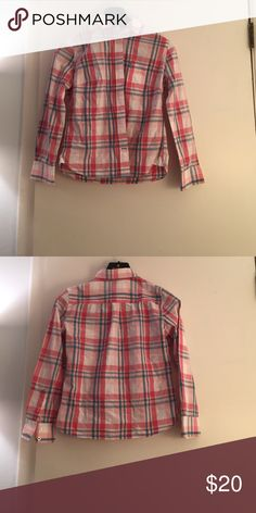 Pink Plaid Button Down Cute Jack Wills pink plaid button down has only been worn a handful of times! Light pink, dark pink and blue plaid, white buttons, collar. Perfect for spring! Jack Wills Tops Button Down Shirts