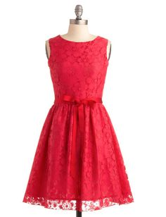 Look like Vermillion dress by ModCloth. #dress #red