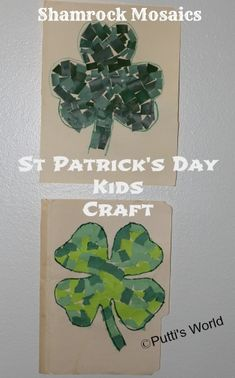 Shamrock Mosaics - St Patrick's Day Kids Craft