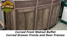 Curved Front Walnut Buffet - Curved Drawers and Door Frames Pt. 4