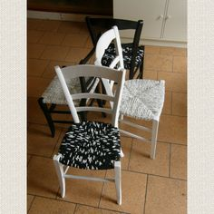 rempaillage de chaise avec du tissu astuces et bricolages pinterest rempaillage de. Black Bedroom Furniture Sets. Home Design Ideas