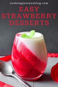 Frozen strawberry desserts for two! Easy dessert idea with strawberries and yogurt. #strawberries #frozenstrawberries #easydesserts