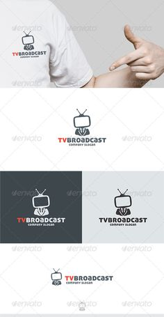 TV Broadcast Logo — Transparent PNG #work #design • Available here → https://graphicriver.net/item/tv-broadcast-logo/6290052?ref=pxcr