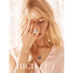 YoonA talks about her blonde hair, other girl groups and more in 'High... ❤ liked on Polyvore featuring kpop