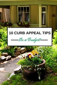 The curb appeal of a home makes a great first impression. Here are some ways to spruce up your curb appeal on a budget.