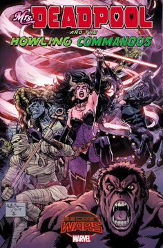 Many of Marvel's favorite monsters are gathering to fight with the Queen of all monsters in Mrs. Deadpool and the Howling Commados #1. She has gathered the