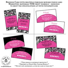 Thirty One Gifts Consultant or Director business cards - multiple purchase reward punch card