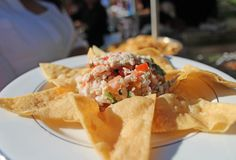 Ceviche appetizers as served at a wedding in Palm Springs, CA