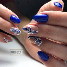 Image may contain: one or more people and closeup Bright Nail Designs, Acrylic Nail Designs, Nail Art Designs, Acrylic Nails, Beautiful Nail Designs, Round Nails, Oval Nails, Fabulous Nails, Perfect Nails