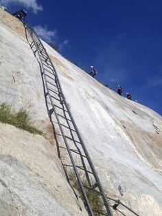 Montblanc trip 2014: long ladder to Mer de Glace