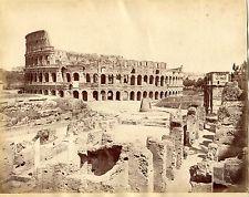 Albumen Large Photo Italy ROME SOMMER Coliseum Ruins 1870