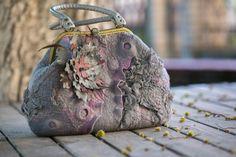 Сумка Розовый туман валяная сумка сумка из шерсти от LanaDiNata
