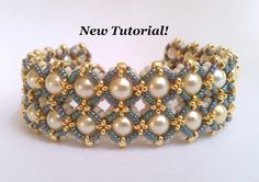 Tutorial for Cobblestones Bracelet by PeregrineBeader on EtsyThe Peregrine Beader by PeregrineBeaderTutorial for Elizabeth I Cuff Bracelet with Chaton StonesTutorial for Noughts and Crosses Beadwoven Bracelet with Tila Beads and Czech Glass Beaded Bracelet Patterns, Woven Bracelets, Seed Bead Bracelets, Handmade Bracelets, Handmade Jewelry, Beading Patterns, Beaded Jewelry Designs, Bead Jewellery, Jewelery