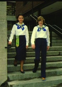 GGC Pathfinders in 1979. #uniforms #vintage #Girl_Guides #GGC