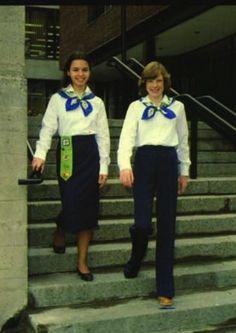 GGC Pathfinders in 1979. #uniforms #vintage #Girl_Guides #GGC
