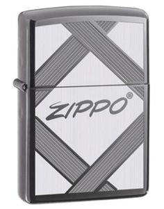 Classic Black Ice Logo Zippo Lighter
