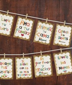 Good Manners Wall Cards in Spanish