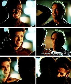 The Flash - Barry & Henry Allen Supergirl Dc, Supergirl And Flash, Flash Funny, Flash Barry Allen, The Flash Grant Gustin, Dc Tv Shows, Snowbarry, Cw Series, Dc Legends Of Tomorrow