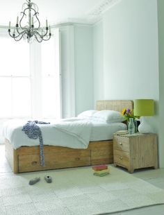WOODY BED: We're proud to big up this beautiful storage bed. How many others out there can claim to be the result of hours of sifting through beautiful reclaimed fir to get just the right look? Loaf Beds, Wood Drawers, Bed Storage, Storage Drawers, How To Make Bed, Home Organization, Organization Ideas, Bedroom Decor, Bedroom Ideas