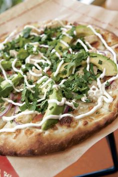Mexican Pizza ($12.95 small, $23.95 large, $26.95 x-large) at Zpizza