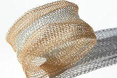 Bracelet Gold Silver Wide Bangle, Wire Crochet Modern Bracelet, Cuff Bracelet Fashion   #etsy #gift #bracelet #jewelry