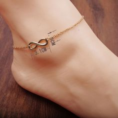 1pc Unique Sexy Anklet Ankle Bracelet Barefoot Sandals Foot Jewelry Leg Chain On Foot Pulsera Tobillo For Women JL05