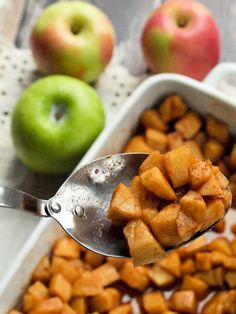 simple Baked Apples--the healthy side dish recipe your whole family will LOVE. Serve these with dinner or eat them cold as a snack!