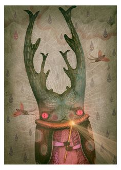 Personal mixed-media illustration project - the curses forest - Vladimir stankovic #design #art